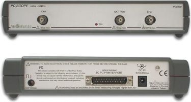 Velleman - PC oscilloskop, 2 kanaler, 50MHz m. netadapter