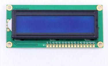 LCD 16x2 m. blå baggrundslys - 5V (til arduino)