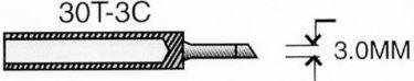 Spids til VTSSC30 - 3,0mm flad og skrå