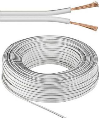 Højttalerledning - 2 x 1,5 mm² CU, Hvid (25m)
