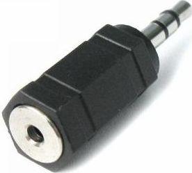 Audioadapter - 3,5mm st. JACK han til 2,5mm st. JACK hun