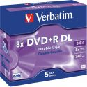 Verbatim - DVD+R DL medie - 8,5GB Dual Layer, 240 min. (5 stk.)
