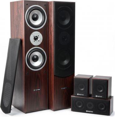 Komplet Surround Sound Højttalersystem 5.0 / 335W rms, valnød