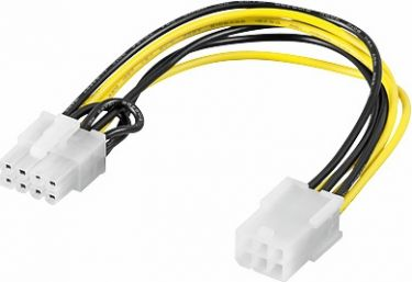 GOOBAY - Intern PC PCI Express kabel - 8P han til 6P hun (0,2m)