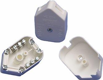 Forgreningsdåse m. skrueterminal - 3 x 0,75mm² Hvid (1 stk.)