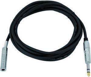 Omnitronic - Audioforlængerkabel - 6,35mm st. JACK han/hun (6m)