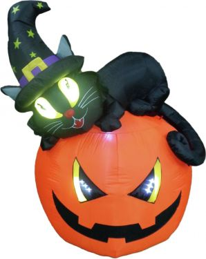 Europalms Inflatable figure Witch pumpkin, 150cm