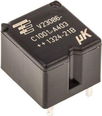 Miniature relæ - 12VDC / 25A, 1 x omskifter (SPDT)