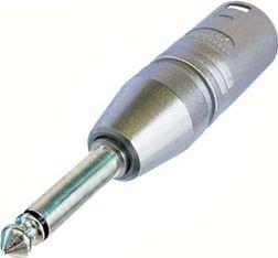 NEUTRIK - Neutrik - XLR 3-pol han til 6,35mm mono-JACK han