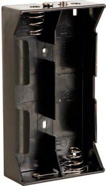 Batteriholder til 4 x D bat. (m. knapterminaler)
