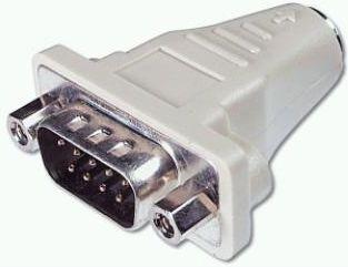 PS/2 adapter - 6P mini-DIN hun til SUBD 9 pol hun