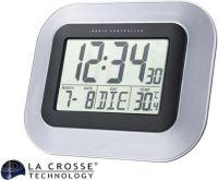 La Crosse - LaCrosse - Radiostyret DCF vægur m. kalender og temperatur
