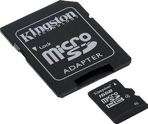 Kingston 16GB micro SD-kort inkl. adaptor (Class 4)