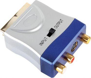 Velleman - SCART adapter - Scart han til 3 x RCA(Phono) A/V + S-VHS