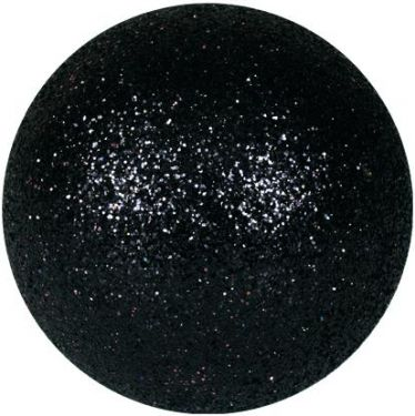 Europalms Deco Ball 3,5cm, black, glitter 48x