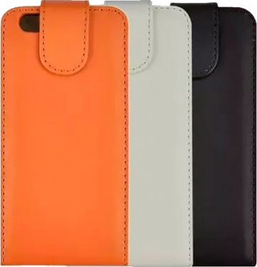 "Flip case cover til iPhone 6 Plus (5,5"") - Læder, Hvid"