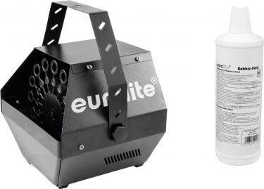 Eurolite Set B-100 Bubble machine black DMX + bubble fluid 1l