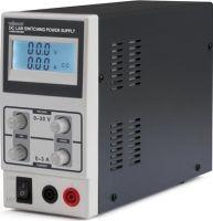 Velleman - Laboratorie strømforsyning - 0-30V / 0-3A m. LCD display