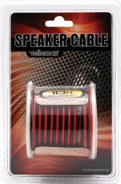 LOUDSPEAKER WIRE - RED/BLACK - 2 x 1.00mm² - 10m K/LOW2100/10