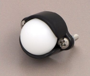Ballcasters H: 13,5 mm plast Ø: 12,7 mm