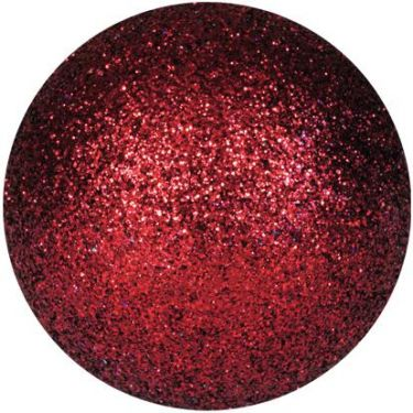 Europalms Deco Ball 3,5cm, red, glitter 48x