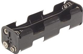 Batteriholder til 8 x AA-bat. (m. knapterminaler)