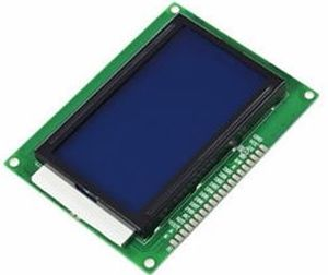 Grafisk LCD display - 128x64, ST7920, hvid-blå backlight