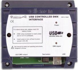 Velleman - VM116 - DMX styring m. USB (m. Light Player software)
