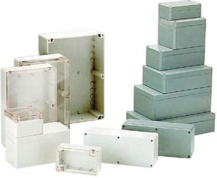 G378 plastkabinet - Grå, IP65 (265x185x95mm)