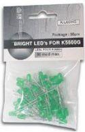 Velleman - Lysdioder - 50 stk. 5mm grøn LED (30-60 mcd)