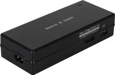 Velleman - Notebook strømforsyning - 15 til 24V / 120W (6A) m. USB, EUP