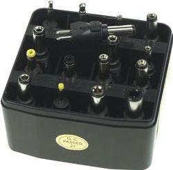 DC stiksortiment - 16 aftagelige stik til universaladaptere