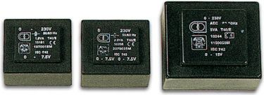Velleman - 230V printtransformator - 18VA 2 x 7,5V / 2 x 1,333A