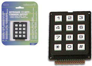 Tastatur 12 taster, fælles udgang