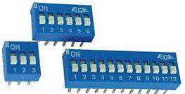 DIP kontakt - 6 x ON-OFF   50V/0,1A