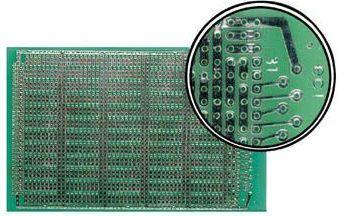 Velleman - Hulprint - 100x160mm, enkeltsidet, IC mønster (1 stk.)