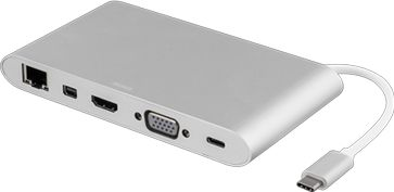 USB-C dockingstation - USB-C, HDMI, 3xUSB-A, RJ45, SD (0,1m)
