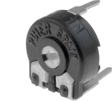 PIHER - Vandret trimmepotmeter - 4,7 Mohm, lille 10mm, skruetrækker