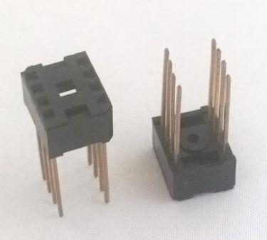 Wire-Wrap IC sokkel - 8 ben (DIP8)