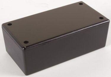 ABS plastkabinet - Sort (130x70x45mm)