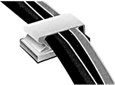 Velleman - Selvklæbende kabelholder - 2,5 x 10,5mm hul (10 stk.)