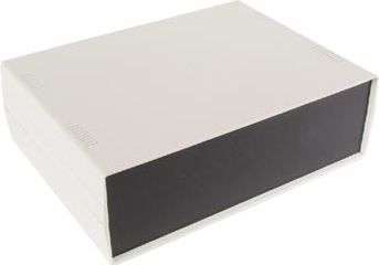 ABS instrumentkabinet - Grå/sort (260x190x80mm)