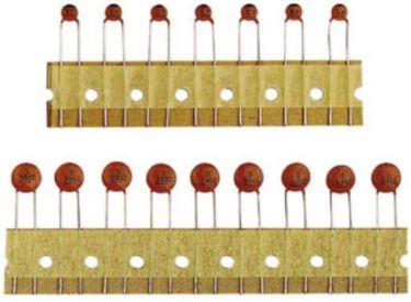 Keramisk skivekondensator - 680pF / 50V (5,08mm)