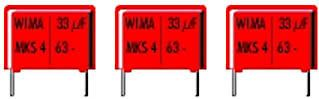 WIMA - MKS4 polyester kondensator - 2200nF (2,2uf) 63V 15mm