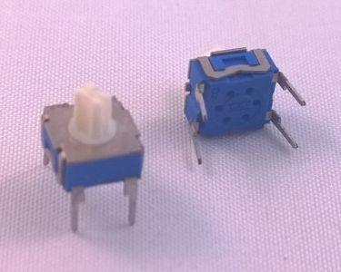 Mikro drejeomskifter 1 pol til print ON-ON 7,5x7,5mm